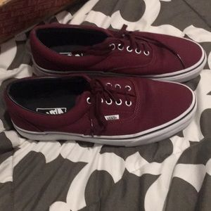 Men's burgundy van's size 11